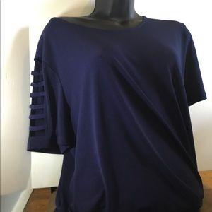 Michael Kors blue xl blouse